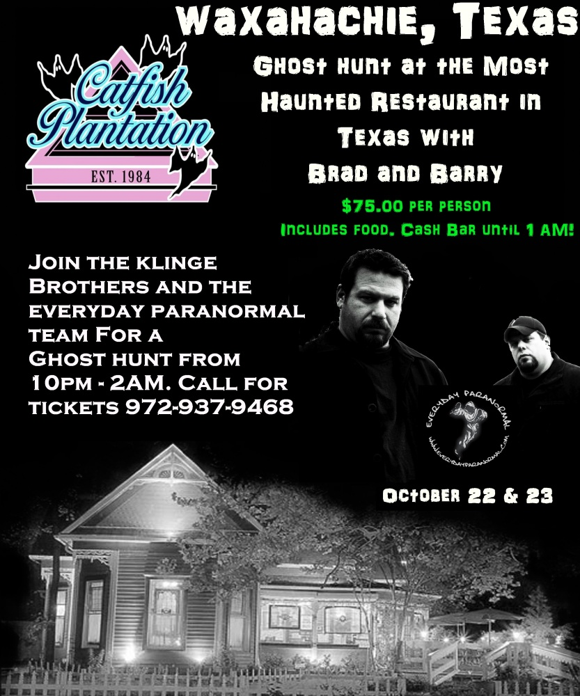 Dinner at the haunted Catfish Plantation in Waxahachie TX (2/2)